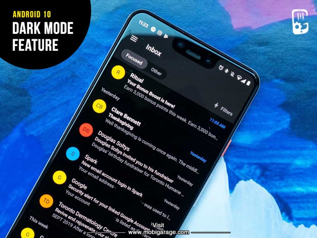 Android 10 Dark Mode Feature | MobiGarage