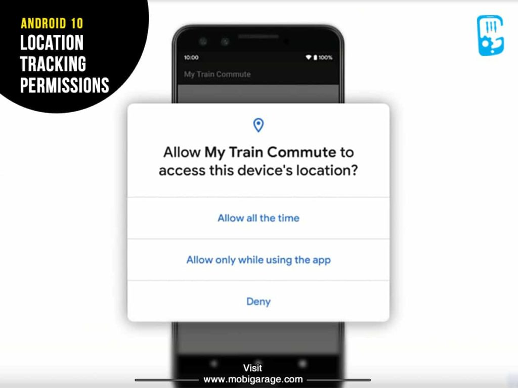 Android 10 Location Tracking Permissions | MobiGarage